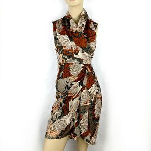 H&M Mock Wrap Floral Cocktail Dress size 4